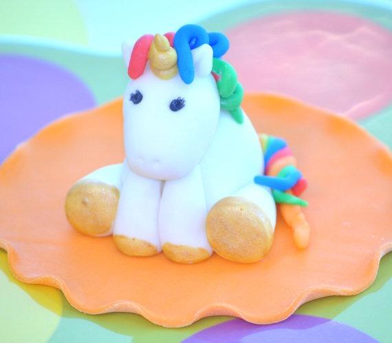 Unicorn Cake Topper, Rainbow Unicorn, Unicorn Birthday, Custom