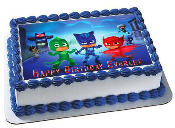 Pj Masks 1 Edible Birthday Cake Topper Or Cupcake Topper, Decor