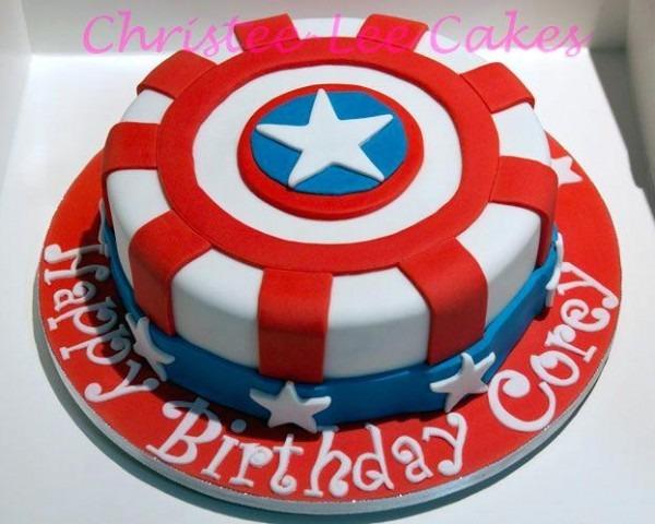 Outstanding Captain America Birthday Cake Funny Birthday Cards Online Alyptdamsfinfo