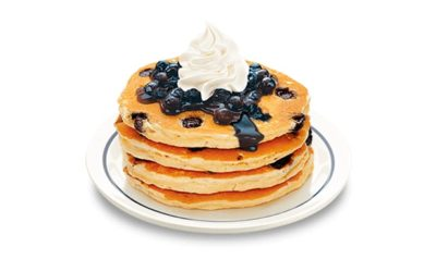 Double Blueberry Pancakes From Ihop