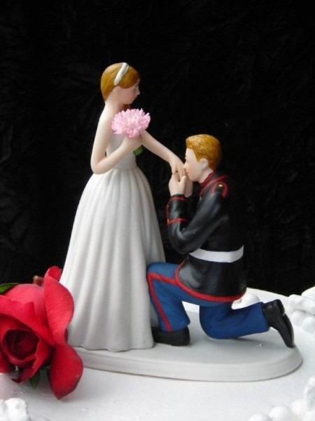 Marine Corps Military Usmc Prince Wedding Cake Topper Kneel