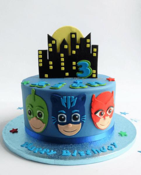 P J Masks Cake Blue In 2018