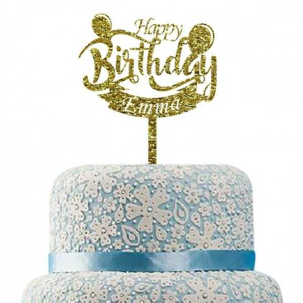 Aliexpress Com   Buy Happy Birthday Cake Topper,personalized Name