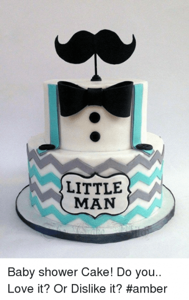 Little Man Baby Shower Cake! Do You Love It  Or Dislike It   Amber