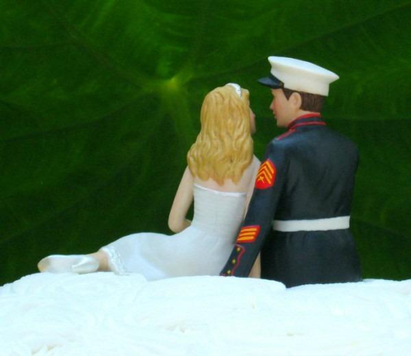 Marine Wedding Cake Topper