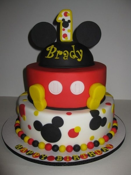 Download Mickey Mouse Birthday Cake Decorations
