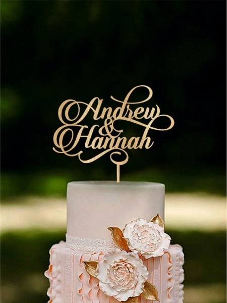 Personalized Wedding Cake Topper Custom Name Cake Toppers Couple