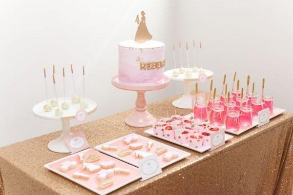 Kara's Party Ideas Pink & Gold Princess Birthday Party