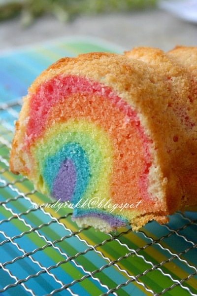 Table For 2  Or More  Rainbow Bundt Cake