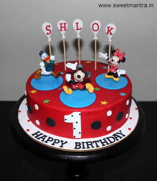 Mickey Mouse And Friends Theme Small Customized Designer Cake For