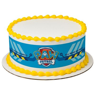 Amazon Com  Paw Patrol Cake Strips Licensed Edible Cake Topper