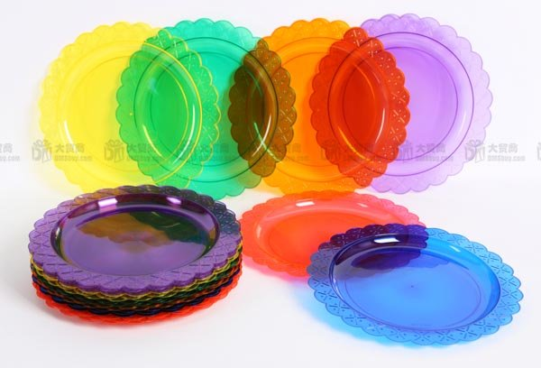 Banquet Plastic Tray, Fruit Tray, Cake Plate, Saucer, Plastic