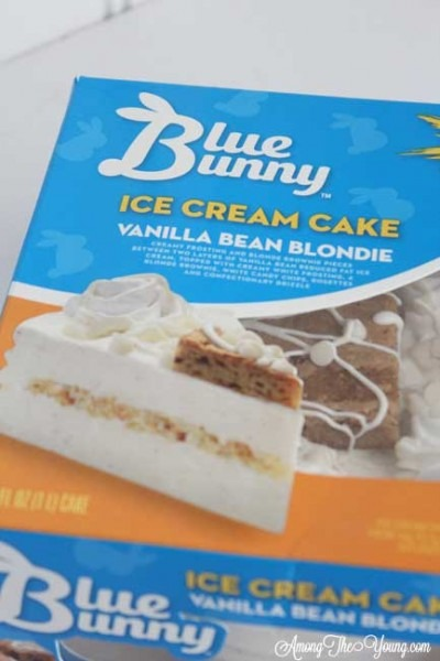 Peanut Butter Ice Cream Cake With Blue Bunny®