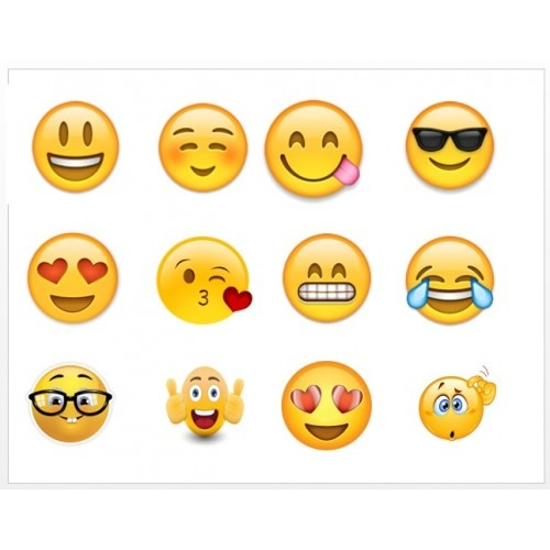 Emoji Edible Image Cupcake Topper