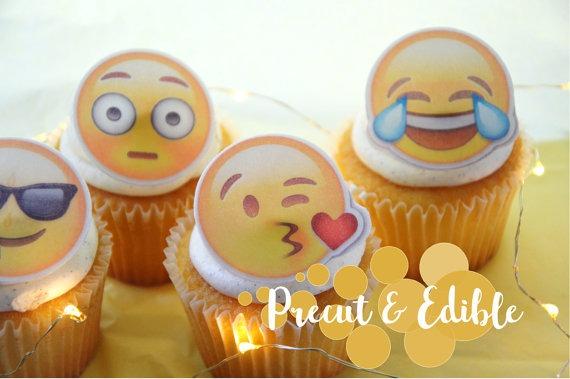 Emoji Cake Toppers Emoji Cupcake Topper Precut Edible Image