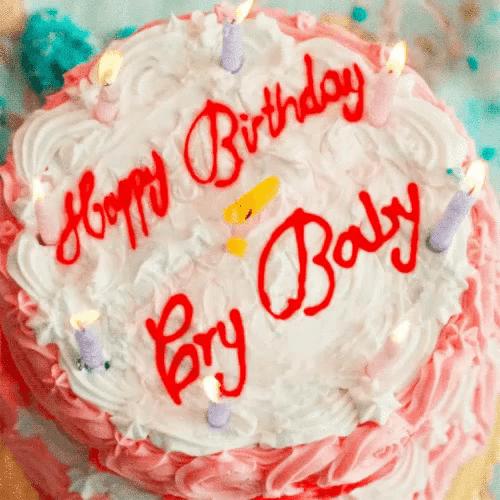 Happy Birthday Cake Gif