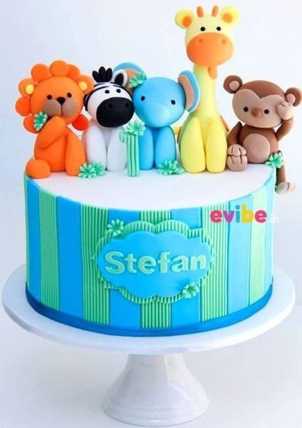 Order Cute Jungle Theme Cake Online