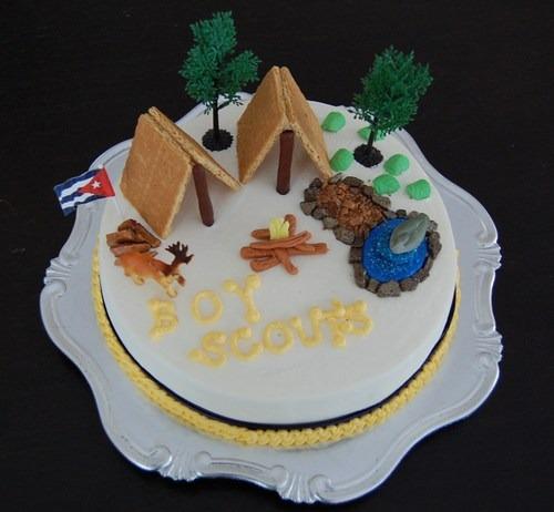 Boy Scout Themed Party Cake By Jennifer Bobb