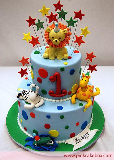 1st Birthday Animal Cake » Childrens Cakes