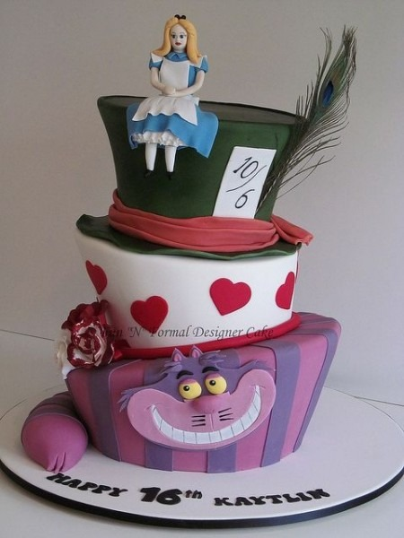 Madhatter Alice In Wonderland Birthday Cake In 2019