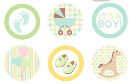 Amazon Com  Baby Shower Welcome {boy Blue} Edible Cupcake Toppers
