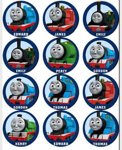 Free Printable Thomas The Train Cup Cake Toppers