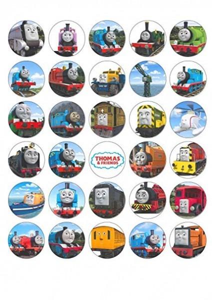 Amazon Com  30 Thomas The Tank Engine Train Edible Wafer Cupcake