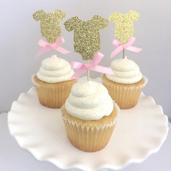 Cupcakes For A Girl Baby Shower