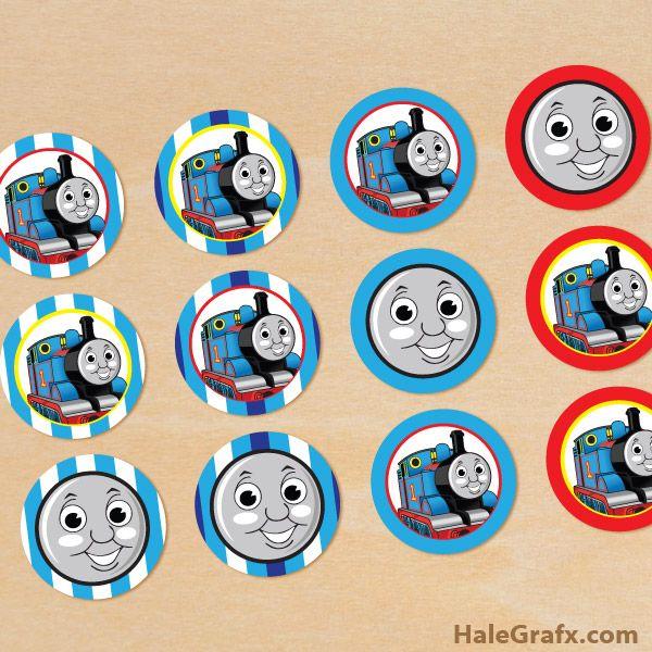 Thomas Train Cupcake Toppers Free Printable Thomas The Tank Engine