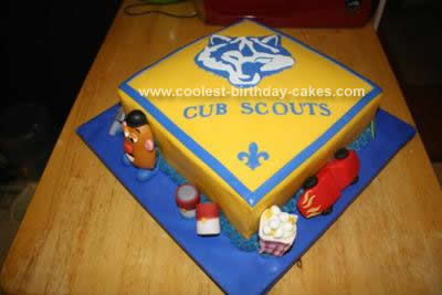 Coolest Boy Scout Blue And Gold Banquet Cake