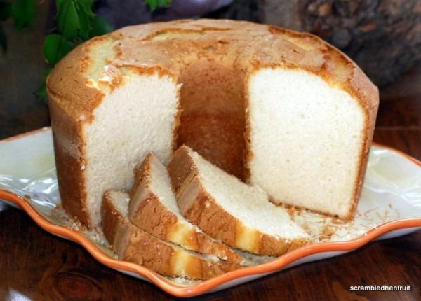 Scrambled Henfruit  Sour Cream Pound Cake