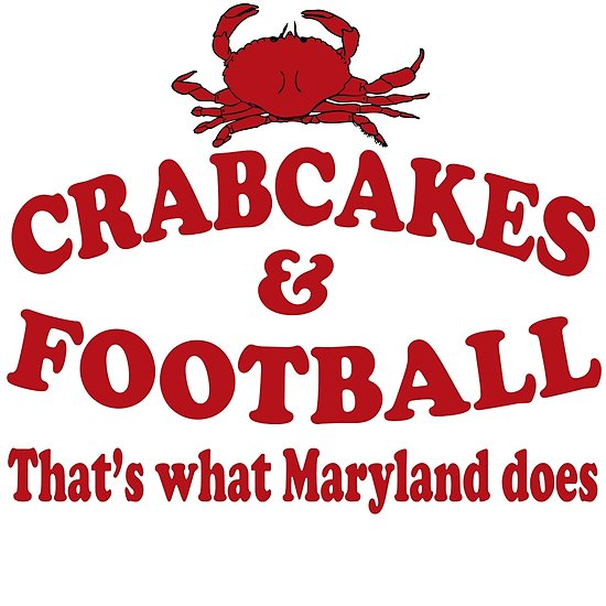 Crabcakes And Football That's What Maryland Does Posters By Movie