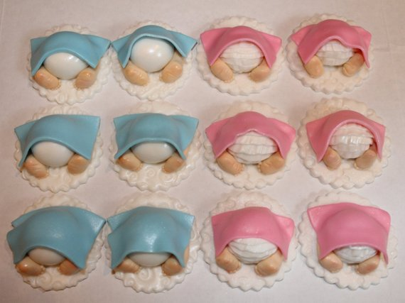 Baby Shower Baby Butt Cupcake Toppers