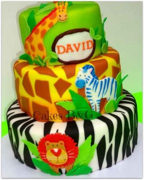 Safari Jungle Theme Cake
