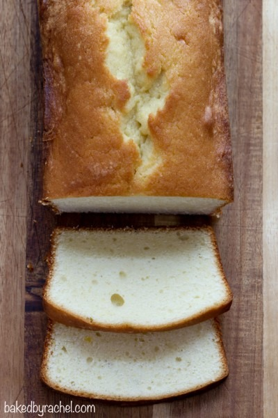 Baked By Rachel » Sour Cream Pound Cake Loaf