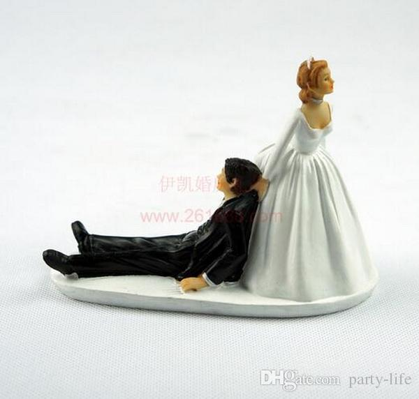 Runaway Groom Funny Wedding Cake Topper Personalized Cake Toppers