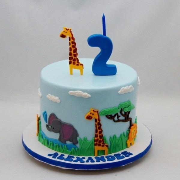 Zoo Safari Themed Cake
