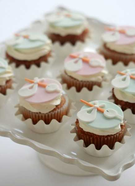 Stork Cupcake Toppers