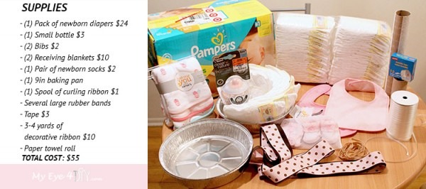 How To Make A Tricycle Diaper Cake Centerpiece