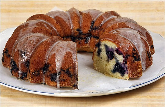 Blueberry Bundt Coffee Cake With Icing