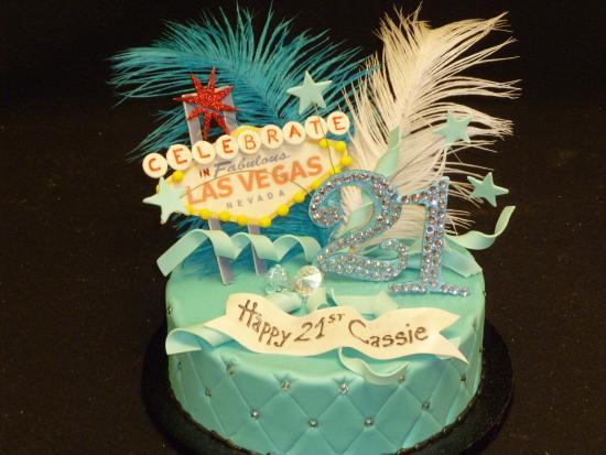 Vegas Themed Birthday Cakes