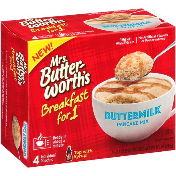 Mrs  Butterworth's Breakfast For 1 Buttermilk Pancake Mix 4
