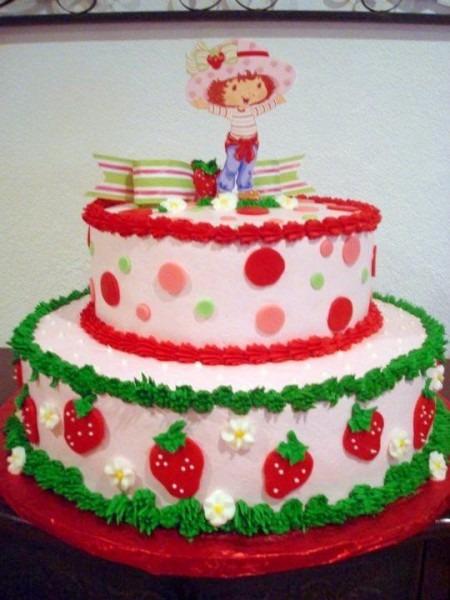 Strawberry Shortcake Cake I Made For A Little Girl  I Also Made