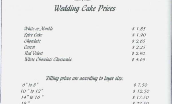 Is Sample Wedding Cake Contract The Most