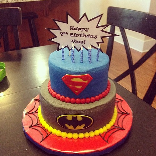 Superhero Cake For The 7 Year Old Birthday Boy  Happy Birt…