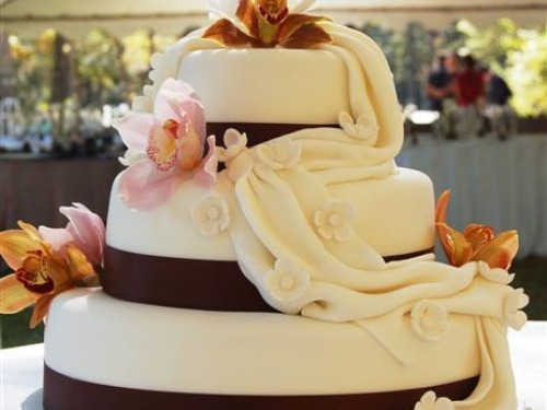 White Almond Wedding Cake Dessert Recipe By Linda Wonderlander