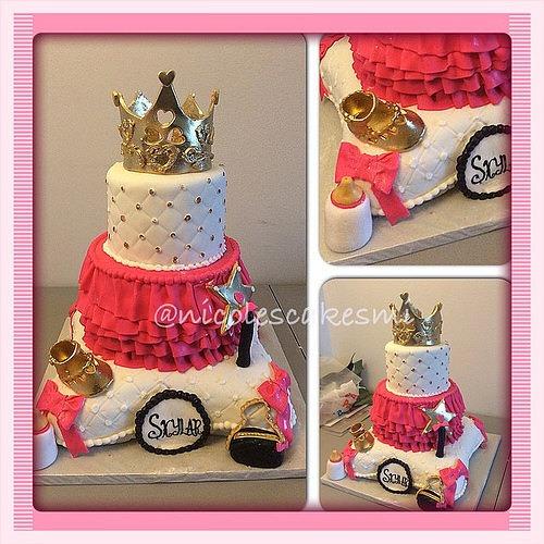 Royal Princess Baby Shower Cake  All Fondant 100  Edible