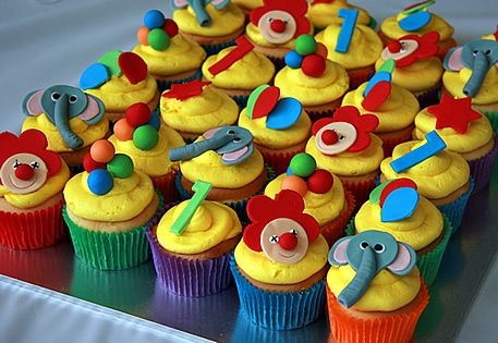 Cupcake Ideas For Circus Themed Party