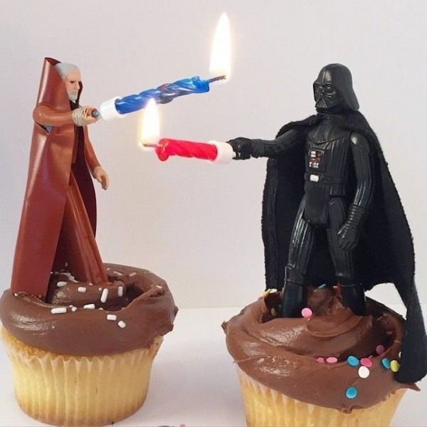 Turn Star Wars Action Figures Into Cake Toppers + Use Candles As