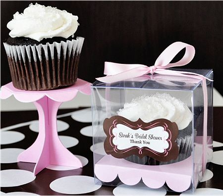 Personalized Cupcake Boxes With Ribbon (set Of 12)